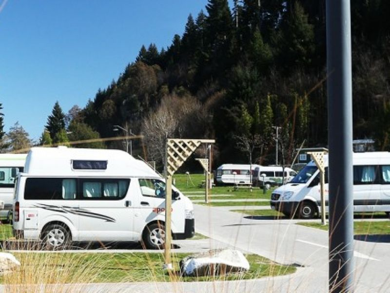 Powered camping sites right in the heart of Queenstown town centre